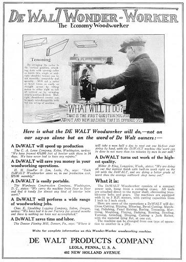 dewalt power tools history