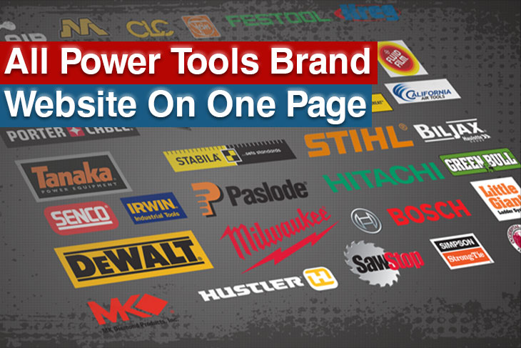 All Power Tools Brand Website in One Page-ronix