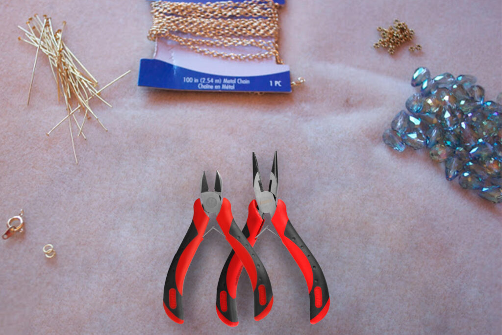 Materials needed to make necklaces