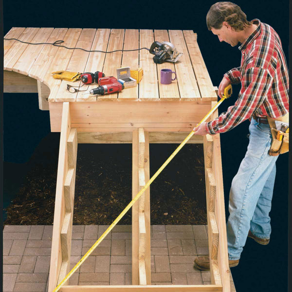 Check the Squareness of the Stair Assembly