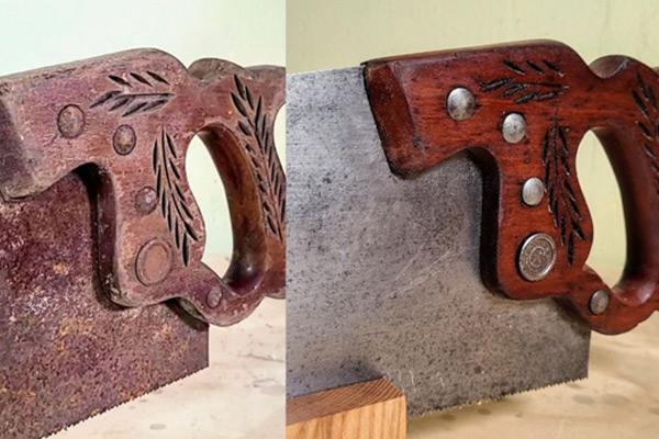 Restoring handsaw's handle