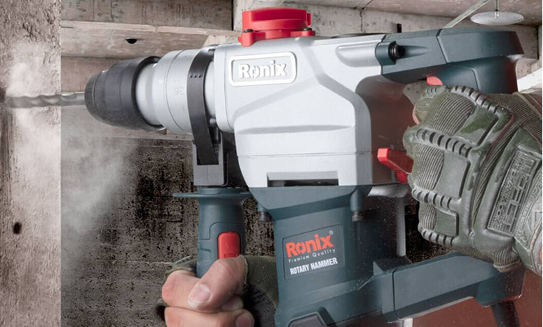 Ronix Hammer drill used to drill concrete surface