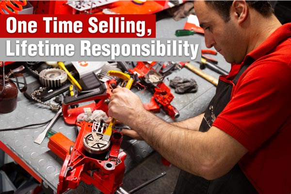 ronix core value One Time Selling, Lifetime Responsibility